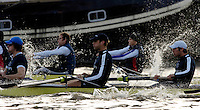 PUTNEY, LONDON, ENGLAND, 05.03.2006, OUBC, Oxford, [right to left] No.4 Paul Daniels; No.5 James Schroeder. No.6 Barney Williams; Pre 2006 Boat Race Fixtures,.   © Peter Spurrier/Intersport-images.com....OUBC, Bow Robin Esjmond-Frey, No.2 Colin Smith, No.3 Jake Wetzel, No.4 Paul Daniels, No.5 James Scroder. No.6 arney Williams, No. 7 Tom Parker, stroke Bastien Ripoll, and cox Nick Brodie,..[Mandatory Credit Peter Spurrier/ Intersport Images] Varsity Boat Race, Rowing Course: River Thames, Championship course, Putney to Mortlake 4.25 Miles