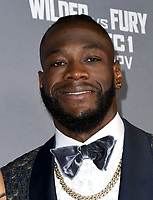 01 December 2018 - Los Angeles, California - Deontay Wilder. Heavyweight Championship Of The World 'Wilder vs. Fury' held at The Staples Center. <br /> CAP/ADM/BT<br /> &copy;BT/ADM/Capital Pictures