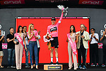 Rohan Dennis (AUS) BMC Racing Team takes over the leaders Maglia Rosa at the end of Stage 2 of the 101st edition of the Giro d'Italia 2018 running 167km from Haifa to Tel Aviv, Israel. 5th May 2018.<br /> Picture: LaPresse/Gian Mattia D'Alberto | Cyclefile<br /> <br /> <br /> All photos usage must carry mandatory copyright credit (&copy; Cyclefile | LaPresse/Gian Mattia D'Alberto)