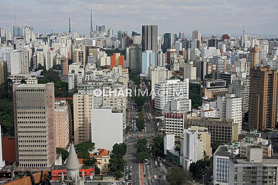 Avenida da Consolaçao na da cidade de Sao Paulo. 2017. Foto: Euler Paixao.