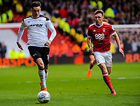 Derby County's forward Tom Lawrence (10) during the Sky Bet Championship match between Nottingham Forest and Derby County at the City Ground, Nottingham, England on 10 March 2018. Photo by Stephen Buckley / PRiME Media Images.