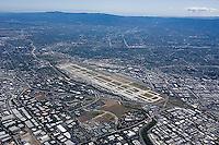 aerial photograph Mineta San Jose International Airport, Santa Clara county, California
