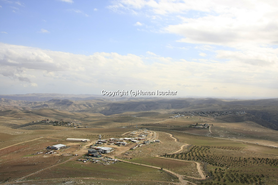 Judea, a view of settlement Nokdim from Mount Herodion