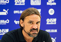 Norwich City manager Daniel Farke at press conference after the Premier League match between Crystal Palace and Norwich City at Selhurst Park, London, England on 28 September 2019. Photo by Andrew Aleksiejczuk / PRiME Media Images.