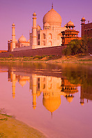 Taj Mahal seen from the Yamuna River, Agra, India