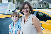 Wonder (2017)<br /> Jacob Tremblay and Author Raquel J Palacio on the set of <br /> *Filmstill - Editorial Use Only*<br /> CAP/KFS<br /> Image supplied by Capital Pictures