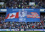 Rangers fans salute the late Sammy Cox