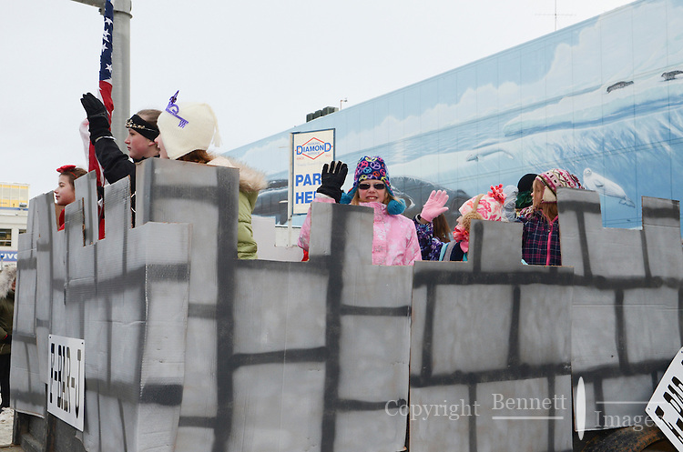 The 2013 Rondy Parade was held in downtown Anchorage, Alaska.