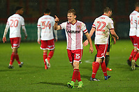 Alex Samuel of Stevenage scores the third goal for his team and celebrates during Stevenage vs Brighton & Hove Albion Under-21, Checkatrade Trophy Football at the Lamex Stadium on 7th November 2017