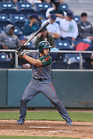 Mark Zagunis #6 of the Boise Hawks bats against the Everett AquaSox at Everett Memorial Stadium on July 22, 2014 in Everett, Washington. Everett defeated Boise, 6-0. (Larry Goren/Four Seam Images)