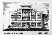Mumford's Geggie, Glasgow, a copy of one of the images gifted by actor Tony Roper to the Britannia Panoptican in Glasgow, after he presented the long-lost variety music hall with some ink drawings of old Glasgow theatres. The framed collection was given to Roper by the family of Ricki Fulton - picture by Donald MacLeod 05.03.09