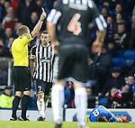 Paul Harkins shown a straight red card by ref John Beaton