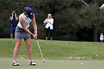 WILMINGTON, NC - OCTOBER 28: Notre Dame's Emma Albrecht on the 12th green. The second round of the Landfall Tradition Women's Golf Tournament was held on October 28, 2017 at the Pete Dye Course at the Country Club of Landfall in Wilmington, NC.