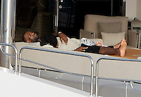 EXCLUSIVE - NBA stars Lebron James relaxing on a yacht and spend holidays on Mallorca, after finishing the basketball season in the US. Palma, 28.06.2016.<br /> Credit: JLS/insight media /MediaPunch ***FOR USA ONLY***