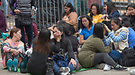 On a Sunday afternoon--their only day off--Filipina domestic workers gather in the center of Hong Kong. Some 370,000 foreign domestic workers live in Hong Kong, about five percent of the population. Most are from the Philippines and Indonesia.