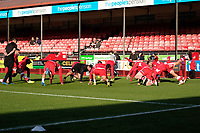 Crawley Town Warm up ahead of Crawley Town vs MK Dons, Sky Bet EFL League 2 Football at Broadfield Stadium on 3rd November 2018