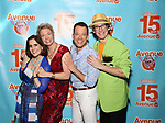 Stephanie D'abruzzo, Jennifer Barnhart, John Tartaglia and Rick Lyon attends the 'Avenue Q' - 15th Anniversary Performance Celebration at Novotel on July 31, 2018 in New York City.