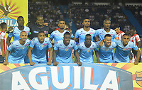 BARRANQUILLA- COLOMBIA -25-03-2017: Los jugadores de Jaguares F.C. posan para una foto, durante partido aplazado de la fecha 2 entre Atletico Junior y Jaguares F.C. por la Liga Aguila I-2017, jugado en el estadio Metropolitano Roberto Melendez de la ciudad de Barranquilla. /  The players of Jaguares F.C. pose for a photo, during a posponed match of the date 2, between Atletico Junior and Jaguares F.C. for the Liga Aguila I-2017 at the Metropolitano Roberto Melendez Stadium in Barranquilla city, Photo: VizzorImage  / Alfonso Cervantes / Cont.