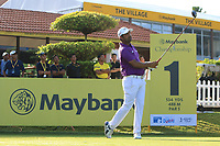 Shiv Kapur (IND) on the 1st tee during Round 1 of the Maybank Championship at the Saujana Golf and Country Club in Kuala Lumpur on Thursday 1st February 2018.<br /> Picture:  Thos Caffrey / www.golffile.ie<br /> <br /> All photo usage must carry mandatory copyright credit (© Golffile | Thos Caffrey)