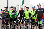 Getting ready for the off at the John O'Shea Memorial Cycle in Dromid on Sunday were l-r; Colm McGill, Eoin O'Connor, Anthony O'Sullivan, Diarmuid O'Leary, Brendan Galvin, John Galvin & Kieran Murphy.
