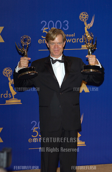 WILLIAM H. MACY at the 55th Annual Emmy Awards in Los Angeles..Sept 21, 2003