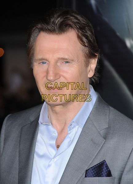 LOS ANGELES, CA - FEBRUARY 24 -Liam Neeson attends Universal Pictures' Non-Stop held at Regency Village Theatre in Westwood, California on February 24,2014                                                                               <br /> CAP/DVS<br /> &copy;DVS/Capital Pictures