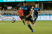 San Jose, CA - Tuesday June 11, 2019: Cristian Espinoza #10 during the US Open Cup match between the San Jose Earthquakes and Sacramento Republic FC at Avaya Stadium.