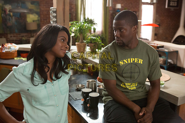Tika Sumpter &amp; Kevin Hart<br /> in Ride Along (2014) <br /> *Filmstill - Editorial Use Only*<br /> CAP/FB<br /> Image supplied by Capital Pictures