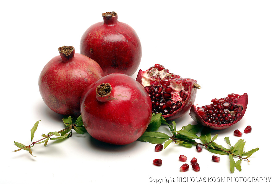 Pomegranates still life.