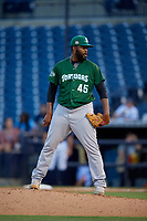 Daytona Tortugas relief pitcher Aneurys Zabala (45) during a Florida State League game against the Tampa Tarpons on May 17, 2019 at George M. Steinbrenner Field in Tampa, Florida.  Daytona defeated Tampa 8-6.  (Mike Janes/Four Seam Images)