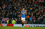 12.12.2019 Rangers v Young Boys Bern: Nikola Katic applauds the fans at full time