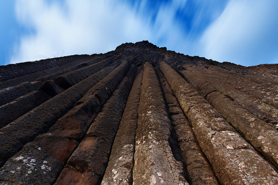 Basalt columns called The Organ Pipes at Giant's Causeway, County Antrim, Northern Ireland, United Kingdom