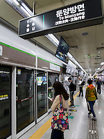U-Bahn in Daegu, Provinz,Gyeongsangbuk-do , S&uuml;dkorea, Asien<br /> subway in Daegu,  province Gyeongsangbuk-do, South Korea, Asia
