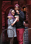 """Holli Campbell and Bryan Terrell Clark attends the cast Q & A during The Rockefeller Foundation and The Gilder Lehrman Institute of American History sponsored High School student #EduHam matinee performance of """"Hamilton"""" at the Richard Rodgers Theatre on October 24, 2018 in New York City."""
