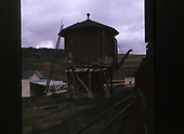 The C&amp;TS Osier water tank with the section house and depot in the background.  Section house is a different color than shown on RDS007-003.<br /> C&amp;TS  Osier, CO