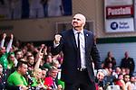 S&ouml;dert&auml;lje 2014-04-22 Basket SM-Semifinal 7 S&ouml;dert&auml;lje Kings - Uppsala Basket :  <br /> tr&auml;nare headcoach coach Vedran Bosnic jublar<br /> (Foto: Kenta J&ouml;nsson) Nyckelord:  S&ouml;dert&auml;lje Kings SBBK Uppsala Basket SM Semifinal Semi T&auml;ljehallen jubel gl&auml;dje lycka glad happy