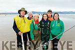 L-R Martin Reidy&Richard Kelter of TBSAC (Tralee Bay Sea Angling Club) Rosaleen&Donna Murphy, Team Ireland Sea Fishing competitors, John Kinsella, Irish team Manager with Alison O'Sullivan, TBSAC, pictured at Inch beach last Saturday at the International sea angling competition hosted by TBSAC.