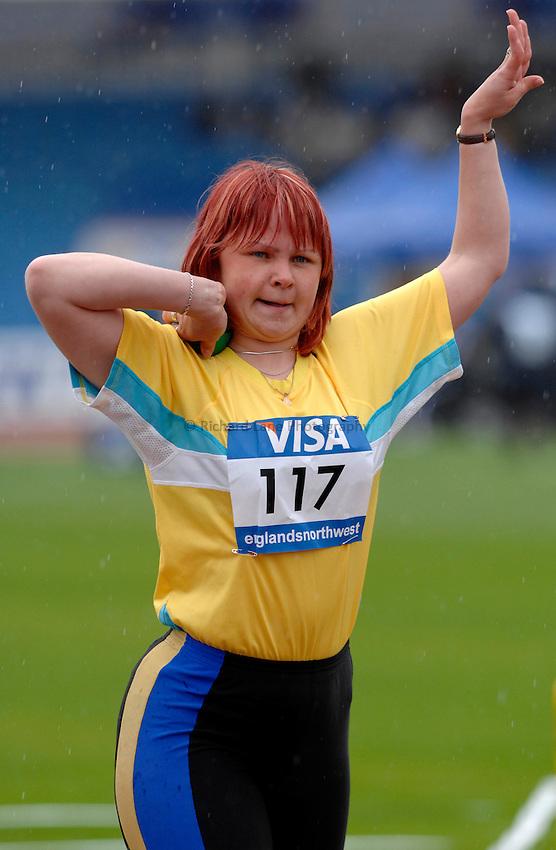 Photo: Richard Lane..VISA Paralympic World Cup 2007. Athletics. 13/05/2007. .Viktorya Yasevych of Ukraine in the women's F37 shot put.