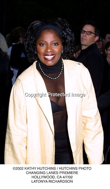 ©2002 KATHY HUTCHINS / HUTCHINS PHOTO.CHANGING LANES PREMIERE.HOLLYWOOD, CA 4/7/02.LATONYA RICHARDSON