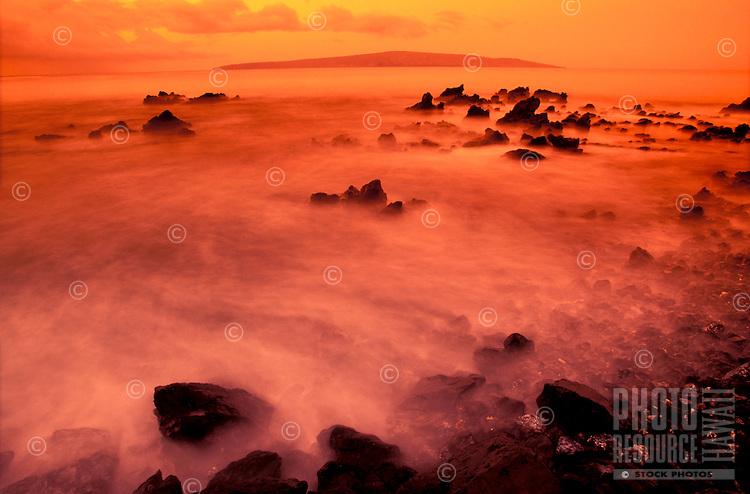 Makena, Maui, at sunset.