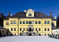 Oesterreich, Salzburger Land, Salzburg: Schloss Hellbrunn, erbaut von 1612 bis 1619 | Austria, Salzburger Land, Salzburg: Palace Hellbrunn, built from 1612 to 1619