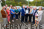 Lyreacrompane Community Development receiving their award on behalf of the NEWKD and Kerry Group on Saturday.<br /> Front L to r: Frank Hayes (Kerry Group), John Stack (NEWKD),  Larry Long, Ramon O'Reilly (NEWKD) and Patricia Dowling (NEWKD),
