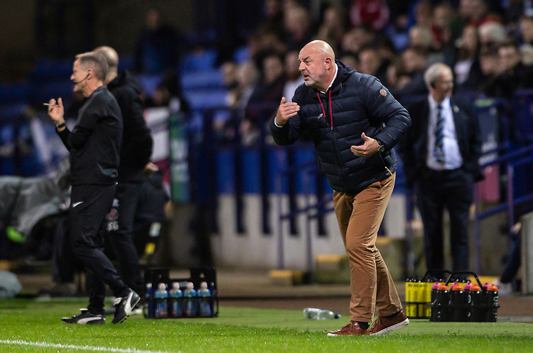 Bolton Wanderers' manager Keith Hill <br /> <br /> Photographer Andrew Kearns/CameraSport<br /> <br /> The EFL Sky Bet League One - Bolton Wanderers v Blackpool - Monday 7th October 2019 - University of Bolton Stadium - Bolton<br /> <br /> World Copyright © 2019 CameraSport. All rights reserved. 43 Linden Ave. Countesthorpe. Leicester. England. LE8 5PG - Tel: +44 (0) 116 277 4147 - admin@camerasport.com - www.camerasport.com
