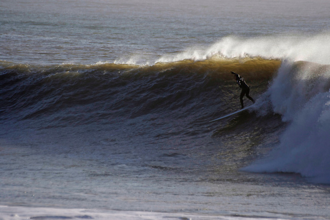 Surf photography from the Isle of Wight on the south coast of England, a big winters day at Freshwater Bay