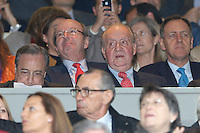 30.04.2012 SPAIN -  Champions League 12/13 Matchday 12th  match played between Real Madrid CF vs  Ballspiel-Verein Borussia 09 Dortmund at Santiago Bernabeu stadium. The picture show Juan Carlos I King of Spain