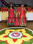 Leona Sady, Sheryl and Meryl Jose at the Indian festival in Tullyallen parish hall. Photo:Colin Bell/pressphotos.ie