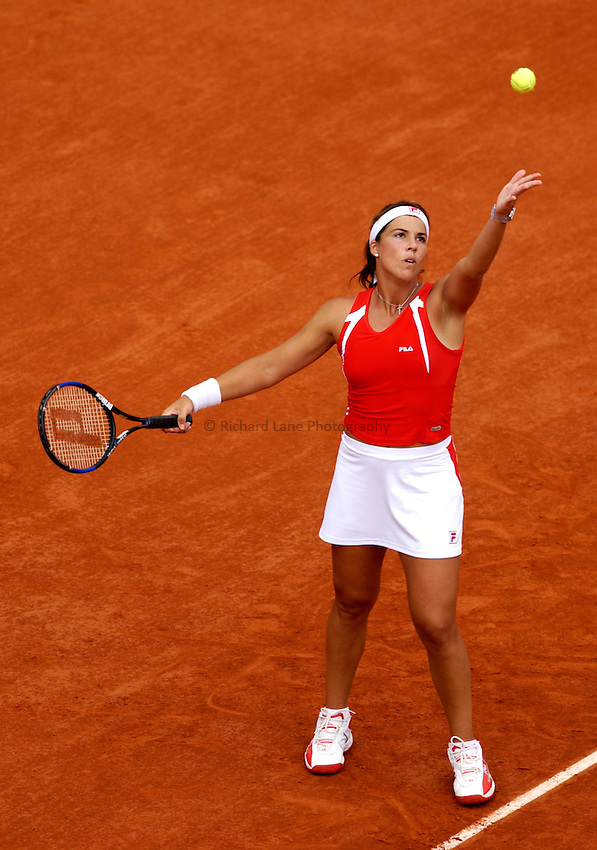 Photo. Jed Wee..French Open Tennis Championships, Roland Garros, Paris, France. 29/05/2003..Jennifer Capriati.