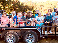 Courtesy photo<br /> Fourth of July attendees enjoy a hayride at the Powell festivities last year. This year's event is scheduled for the evening of July 4.