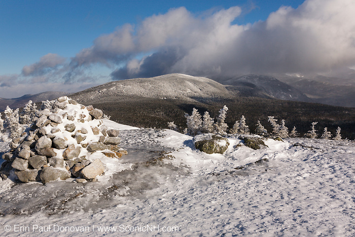 Appalachian Trail - Looking across Oaks Gulf at the Presidential Range from the summit of Mount Jackson in Bean's Grant of the New Hampshire White Mountains at dawn during the winter months.