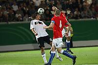 Kopfball Mats Hummels (D)<br /> Deutschland vs. Tschechien, U21 EM-Qualifikation *** Local Caption *** Foto ist honorarpflichtig! zzgl. gesetzl. MwSt. Auf Anfrage in hoeherer Qualitaet/Aufloesung. Belegexemplar an: Marc Schueler, Alte Weinstrasse 1, 61352 Bad Homburg, Tel. +49 (0) 151 11 65 49 88, www.gameday-mediaservices.de. Email: marc.schueler@gameday-mediaservices.de, Bankverbindung: Volksbank Bergstrasse, Kto.: 151297, BLZ: 50960101